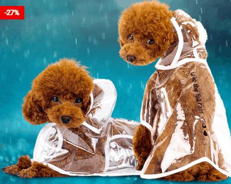 Pets Dog Raincoat Light Rain Guard